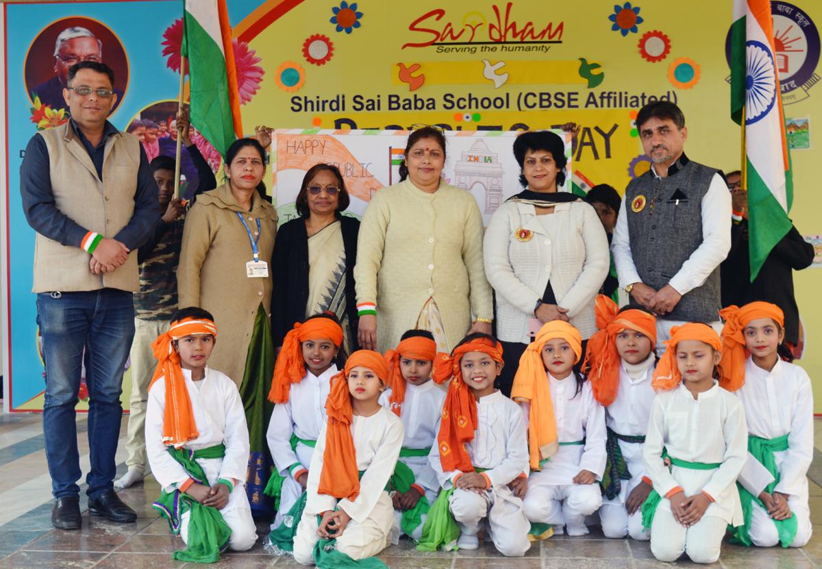 शिरडी सांई बाबा स्कूल तिगांव में 71वां गणतंत्र दिवस धूमधाम से मनाया