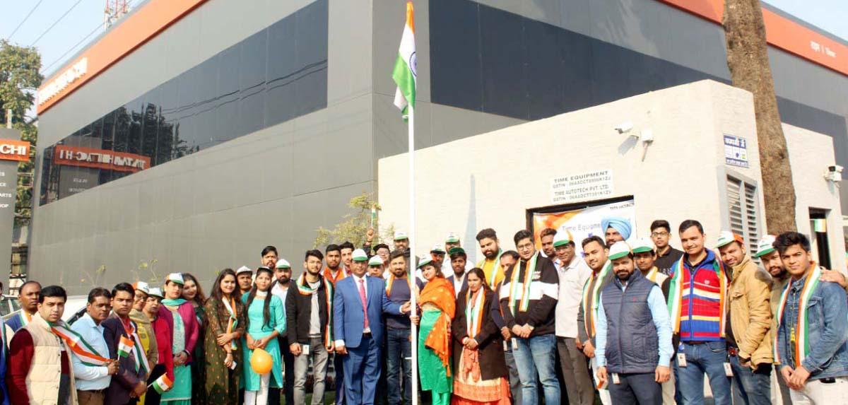 टाईम इक्विपमेंट ने मनाया गणतंत्र दिवस समारोह